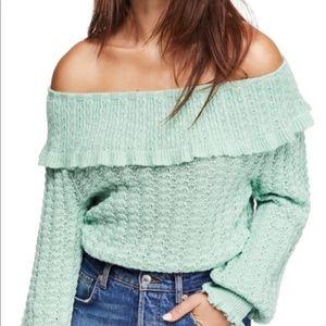 Free People Crazy In Love Ruffle Sweater